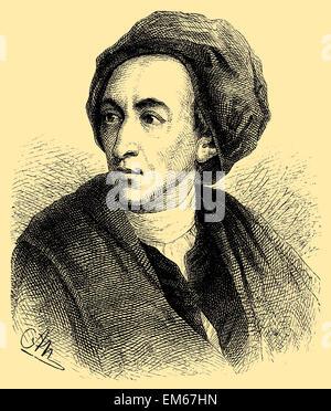 Alexander Pope (1688 - 1744), English poet - Stock Photo