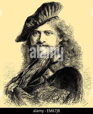 Rembrandt Harmenszoon van Rijn (1606 – 1669), Dutch painter and etcher - Stock Photo