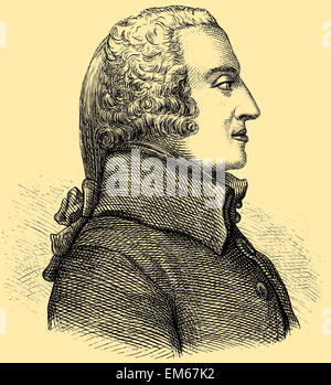 Adam Smith (1723–1790), Scottish author and economics pioneer - Stock Photo
