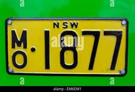 Albion Venturer Registration Plate - Stock Photo