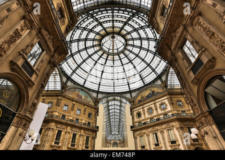 Galleria Vittorio Emanuele II - Milan, Italy - Stock Photo