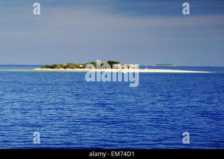 Fiji, Mamanuca Islands, South Sea Island, View From Ocean. - Stock Photo