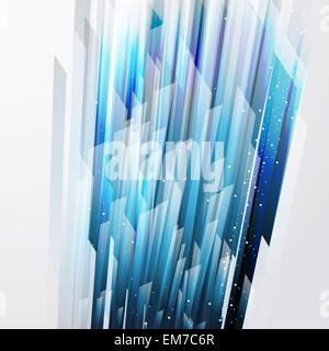 abstract vector background wiht straight blue lines - Stock Photo