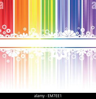 flowers in rainbow stripes - Stock Photo