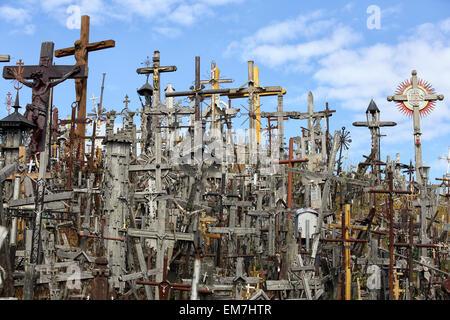 Hill of Crosses, Šiauliai, Lithuania - Stock Photo