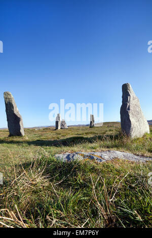 Stones circle on the isle of Lewis, Scotland - Stock Photo