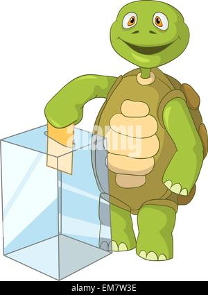 Funny Turtle. Election. - Stock Photo