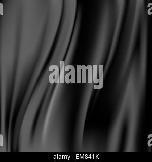Black abstract satin curtain background - Stock Photo