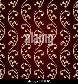 Vintage floral seamless pattern - Stock Photo