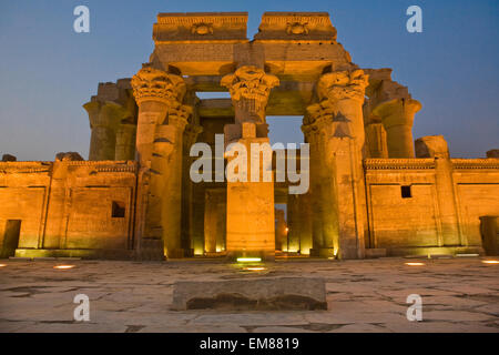 Egypt. Kom Ombo. Temple of Sobek and Haroeris built during the Ptolemaic dynasty - Stock Photo