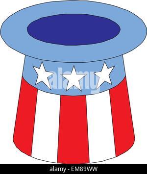 4 of July celebration hat icon. - Stock Photo
