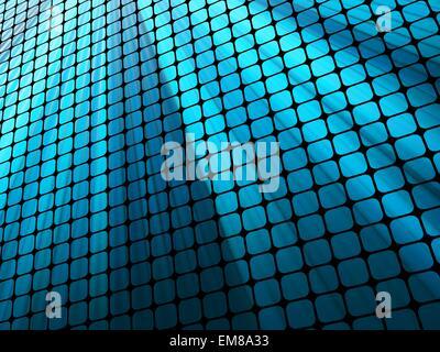 Blue rays light 3D mosaic. EPS 10 - Stock Photo