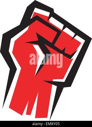 fist stylized vector icon, revolution concept - Stock Photo