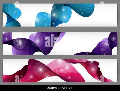 Set Of  Three Banners. - Stock Photo