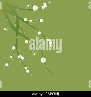 Flowering Green Branches - Stock Photo
