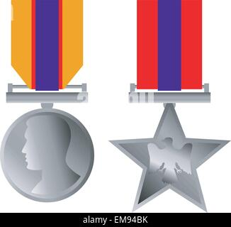 Military Bravery Medal of Honor Isolated - Stock Photo