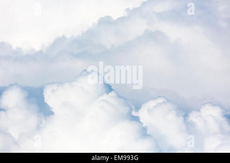 close up of cumulus cumulonimbus cloud formation in sky - Stock Photo
