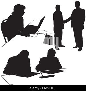 Business Silhouettes - Stock Photo