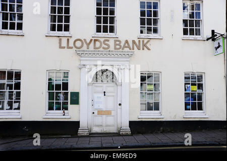 Closed down local branch of Lloyds Bank in Lewes High Street East Sussex UK - Stock Photo