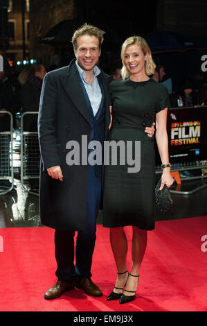 BFI London Film Festival - 'X + Y' screening at the Odeon West End - Arrivals  Featuring: Rafe Spall,Elize du Toit - Stock Photo