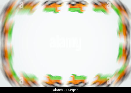 Frame of Earth moving toy. Kids Frame Stock Photo: 81346902 - Alamy