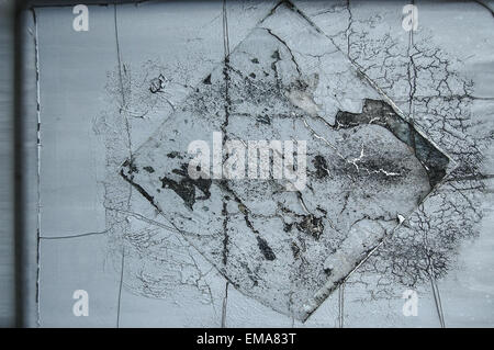 interesting graphic corrosion on a metal surface - Stock Photo
