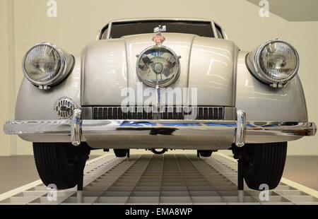 The Tatra 87 was a car built by Czechoslovak manufacturer Tatra. Still impressive with its futuristic car design! - Stock Photo