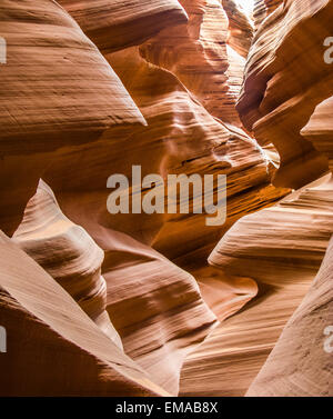 detail of famous slot canyon Antelope canyon in Page - Stock Photo