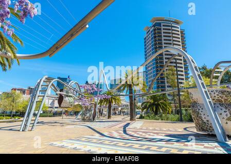 Diagonal Mar Park in Barcelona, Catalonia, Spain - Stock Photo