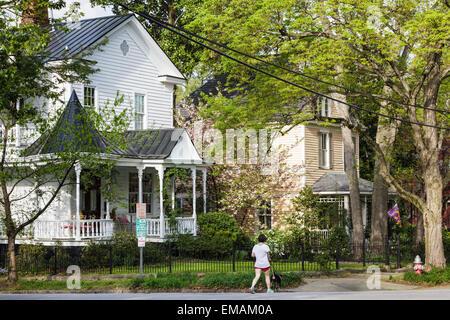 Oakwood Neighborhood, Raleigh, North Carolina. - Stock Photo