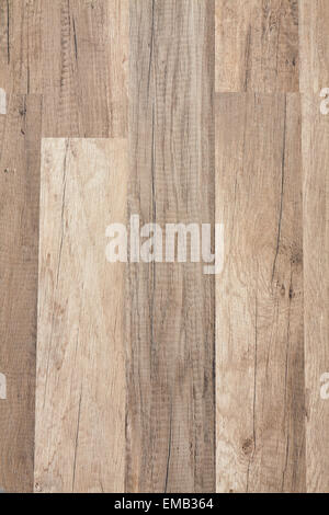 Texture of veneer in pale brown tones with a darker shade imitating walnut - Stock Photo