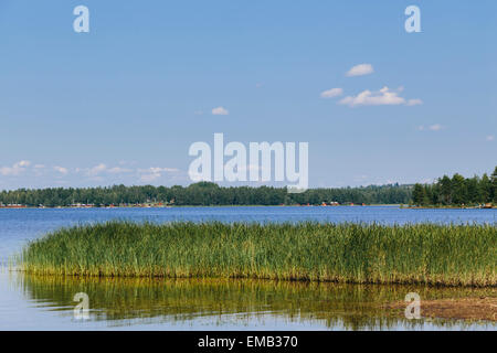 Lake Siljan in Mora, Dalarna County, Sweden - Stock Photo