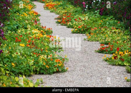 Claude Monet Garten  Giverny Departement Eure Frankreich Europa   Claude Monet garden giverny departement eure france - Stock Photo