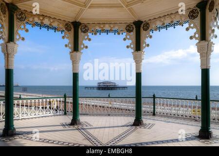 West Pier, Brighton, Sussex, England, United Kingdom - Stock Photo