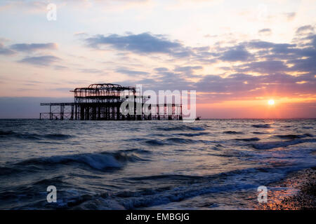 West Pier, Brighton, Sussex, England, United Kingdom - Stock Photo