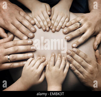 Family expecting for a new lovely member - Stock Photo