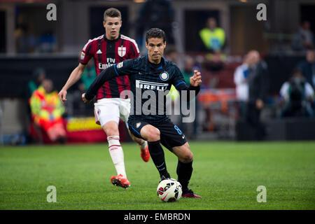 Milan, Italy. 19th Apr, 2015. Hernanes (Inter) Football/Soccer : Italian 'Serie A' match between Inter Milan 0-0 - Stock Photo