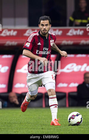 Milan, Italy. 19th Apr, 2015. Suso (Milan) Football/Soccer : Italian 'Serie A' match between Inter Milan 0-0 AC - Stock Photo