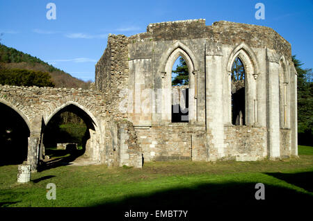 Cistercian Chapter House, Margam Manor Country Park, Port Talbot, Wales. - Stock Photo