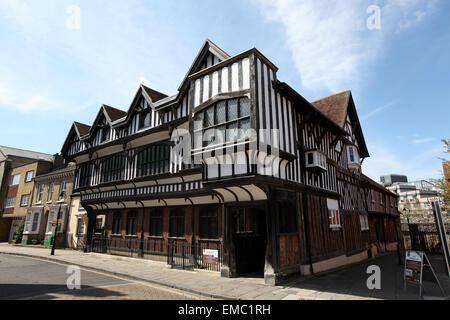 Southampton Tudor House Museum in Bugle Street Southampton - Stock Photo