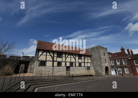 Westgate Hall Southampton formerly known as Tudor Merchants Hall in Southampton old town - Stock Photo