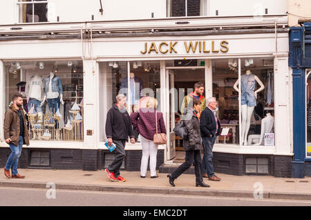 The Jack Wills clothing  shop store in Southwold , Suffolk , England , Britain , Uk - Stock Photo