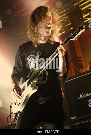 Opeth performing at Manchester Academy  Featuring: Mikael Åkerfeldt Where: Manchester, United Kingdom When: 15 Oct - Stock Photo