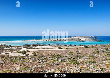 The exotic Elafonissos in Crete, Greece - Stock Photo