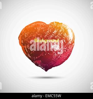 Hand-drawn painted heart - Stock Photo