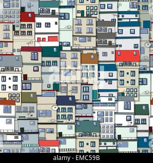 Old town seamless pattern - Stock Photo
