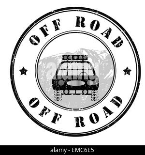 Off road stamp - Stock Photo