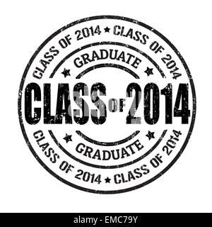 Class of 2014 stamp - Stock Photo