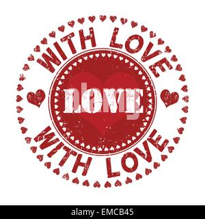 With love stamp - Stock Photo
