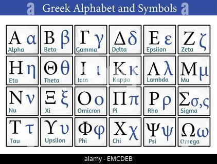 Greek Alphabet and Symbols - Stock Photo
